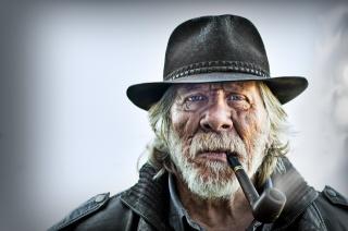 Trubka, klobouk, Starý muž, portrét