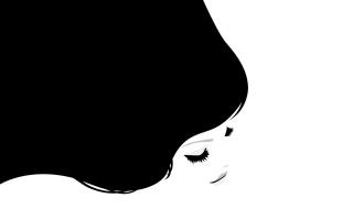drawing, white background, black background, girl