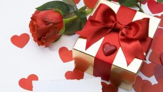 подарок, сердечко, цветы, сюрприз, цветок, роза, сердце
