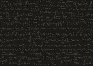 формулы, доска, черный