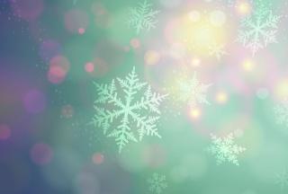 spot, soft colors, snowflakes