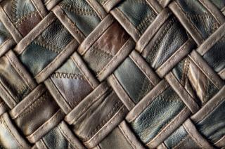 текстура, коричневая, плетеная, кожа, черная, нитки