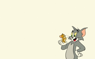 tom and jerry, Tom and Jerry, mustache, mouse, cat, minimalism