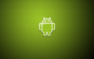 Android, green background, minimalism, Android, green, art