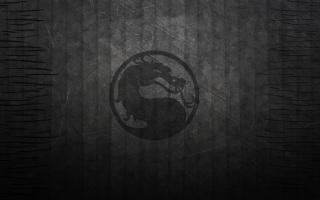 текстура, темный фон, Мортал Комбат, черный, дракон, полосы