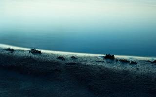 blue, shore, water, sea