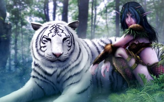 Фея, тигр
