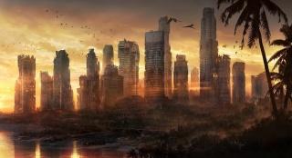 Singapore, руины, город, Сингапур, постапокалиптика, арт