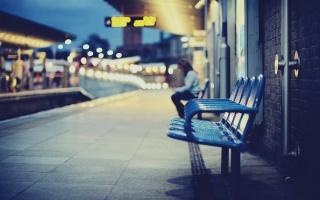 кресла, вокзал, город