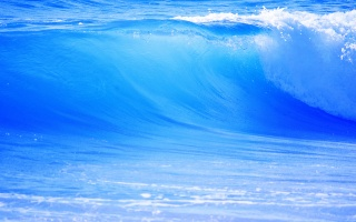 velká, modrá, vlna