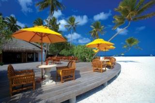 mraky, židle, Maledivy, architektura, pláž