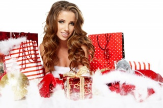 Christmas, New year, new year, christmas, girl, brown hair