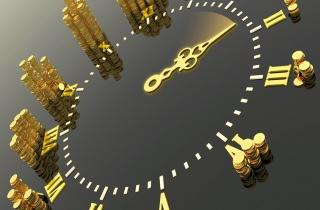 gold, watch, money