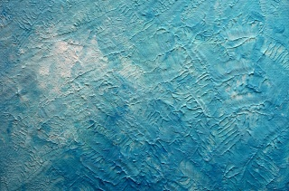 barva, pozadí, modrá, omítka, textura