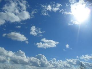 nebe, mraky