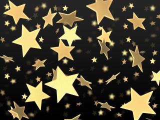 hvězdy, zlato, žlutá, černá