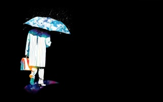 background, people, umbrella, abstraction, portfolio, the rain