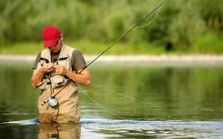 удочка, речка, снасти, нахлыст, рыбак