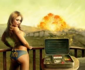 tenpenny babe, holka, Fallout 3, výbuch