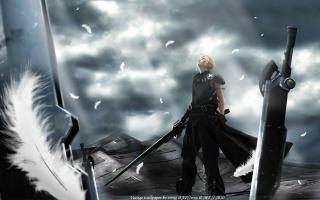 cloud, příchod dětí, финалка, Anime, Final fantasy 7, zbraně