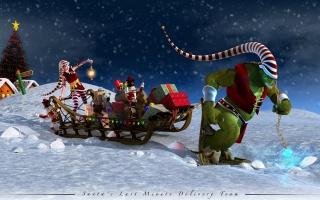 Anime, tree, Klaus, gifts, Santa, Sani