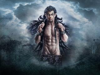 muž, fantasy, mraky, mraky