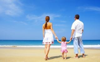 rodina, Láska, krásně, břeh, písek, pláž