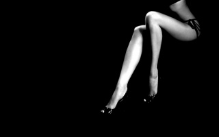 фон, женские, черный, минимализм, стройные, ноги, черно-белое