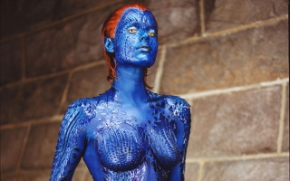 Mystic, x-men, Rebecca romijn, hero, blue appearance