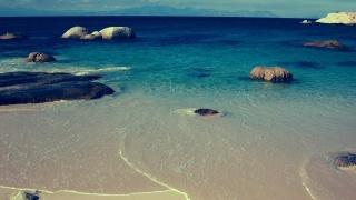 the ocean, wave, stones