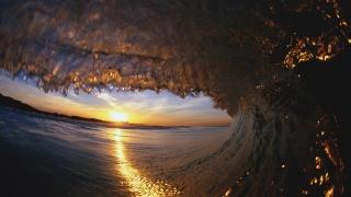 wave, surf, spray, the sun