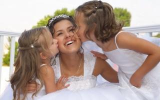 děti, holky, nevěsta, radost