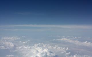 над облаками, высота, в небе