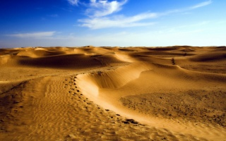 тропа, пустыня, пески, барханы