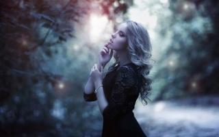 girl, blonde, nature, beauty