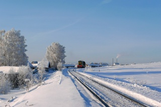 зима, локомотив, мороз, жд