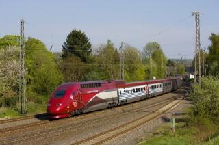 поезд, локомотив, дорога, красота, деревья, зелень