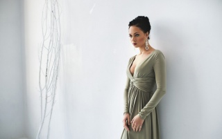 foto, herečka, настасья самбурская, bílé pozadí