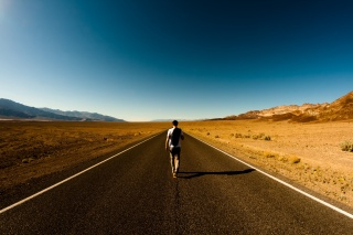 creative, photo, road, desert, mountains