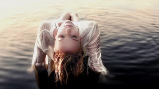 девушка, море, настроение