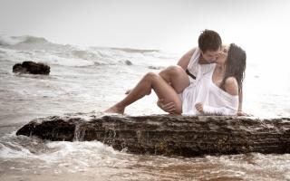 фото, позитив, Любов, море, каміння, красиво, хлопець, дівчина, ситуація, відпочинок, курорт