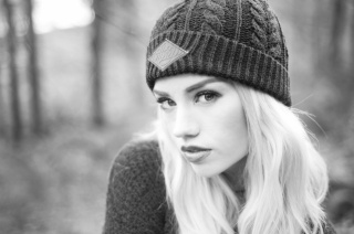 Amy Crilley, girl, blonde, black and white, BW