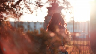 glare, girl, hair, dress, autumn