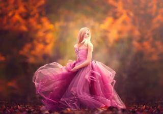 blond, Rose, večer, šaty, podzim