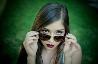 русая, природа, очки, взгляд