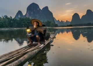 Старый рыбак, река Гуйцзянь, Китай