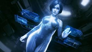 Cortana, fan art, digital art, drawings