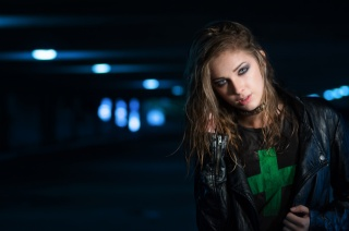 hair, face, view, makeup, jacket, Style, fashion, background