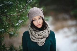 Angelina Petrova, Angelina Petrova, Pózování, model, Ukrainka, krásná, zima