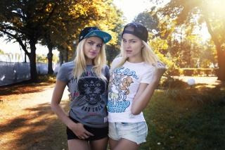 Mikhail Mitjushin, photographer, Alla Emelyanova, Alena Emelyanova, sisters, model, blonde, view, blonde, sports
